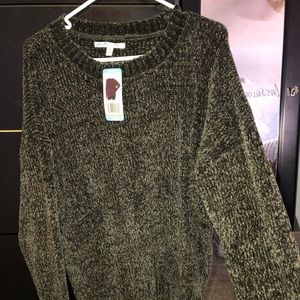 Olive Chenille Sweater